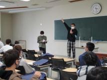 学生自治会の説明会の様子